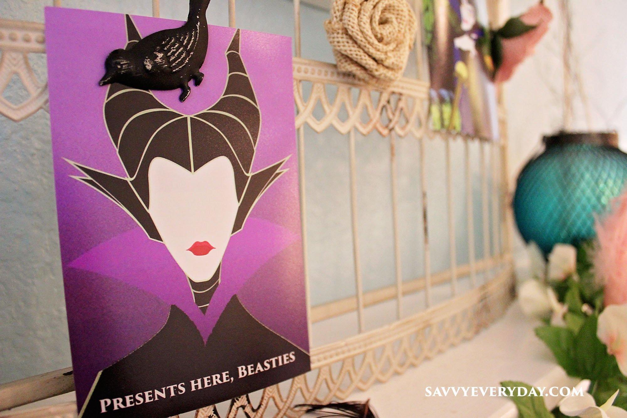 A Maleficent Themed 4th Birthday Party Savvy Every DaySavvy