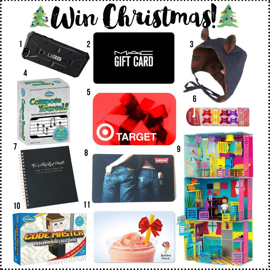 Win Christmas numbered