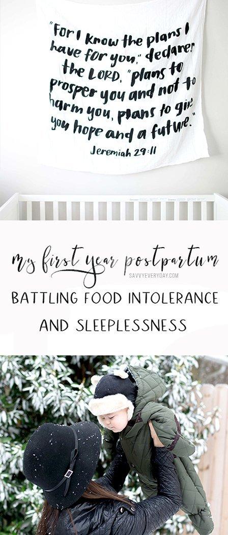 Battling Postpartum Food Intolerance and Sleeplessness