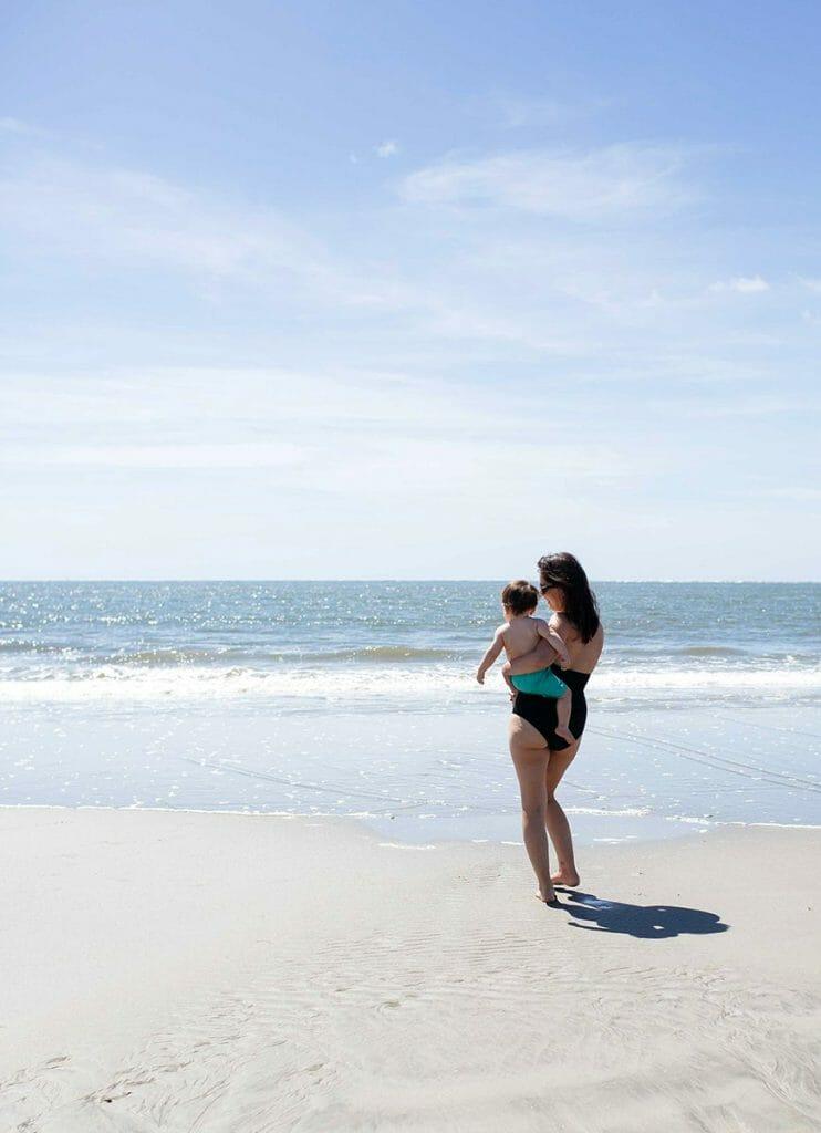 melissa and logan at the beach